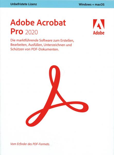Adobe Acrobat 2020 Pro, Deutsch, Vollversionsbundle