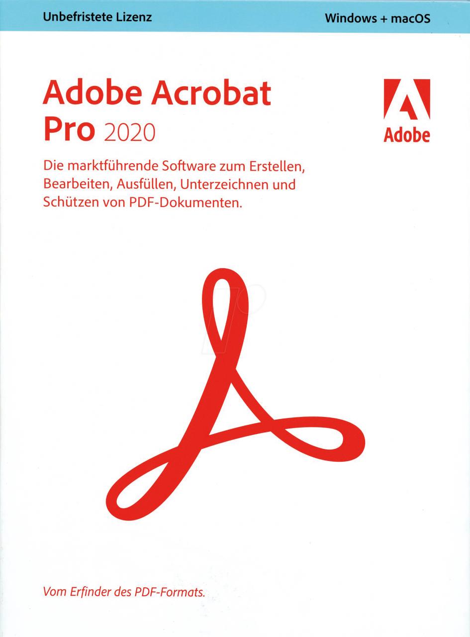 Adobe Systems Adobe Acrobat 2020 Pro, Deutsch