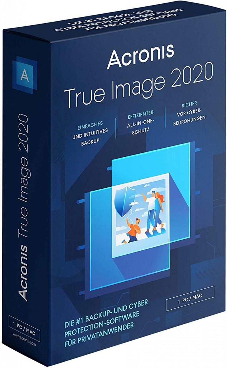 Acronis True Image 2020 Advanced 3 Geräte + 250 GB Acronis Cloud Storage, Download