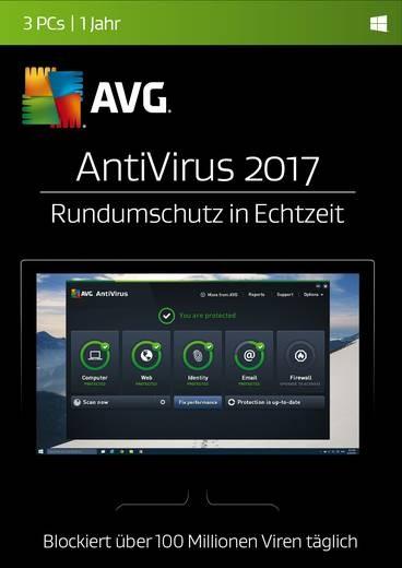 AVG Anti-Virus 2017 - 3 PC - 1 Jahr, ESD, Download, Deutsch