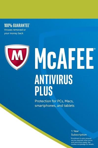 McAfee Antivirus Plus 2018, 1 Gerät - 1 Jahr, Download - www.softperten.de