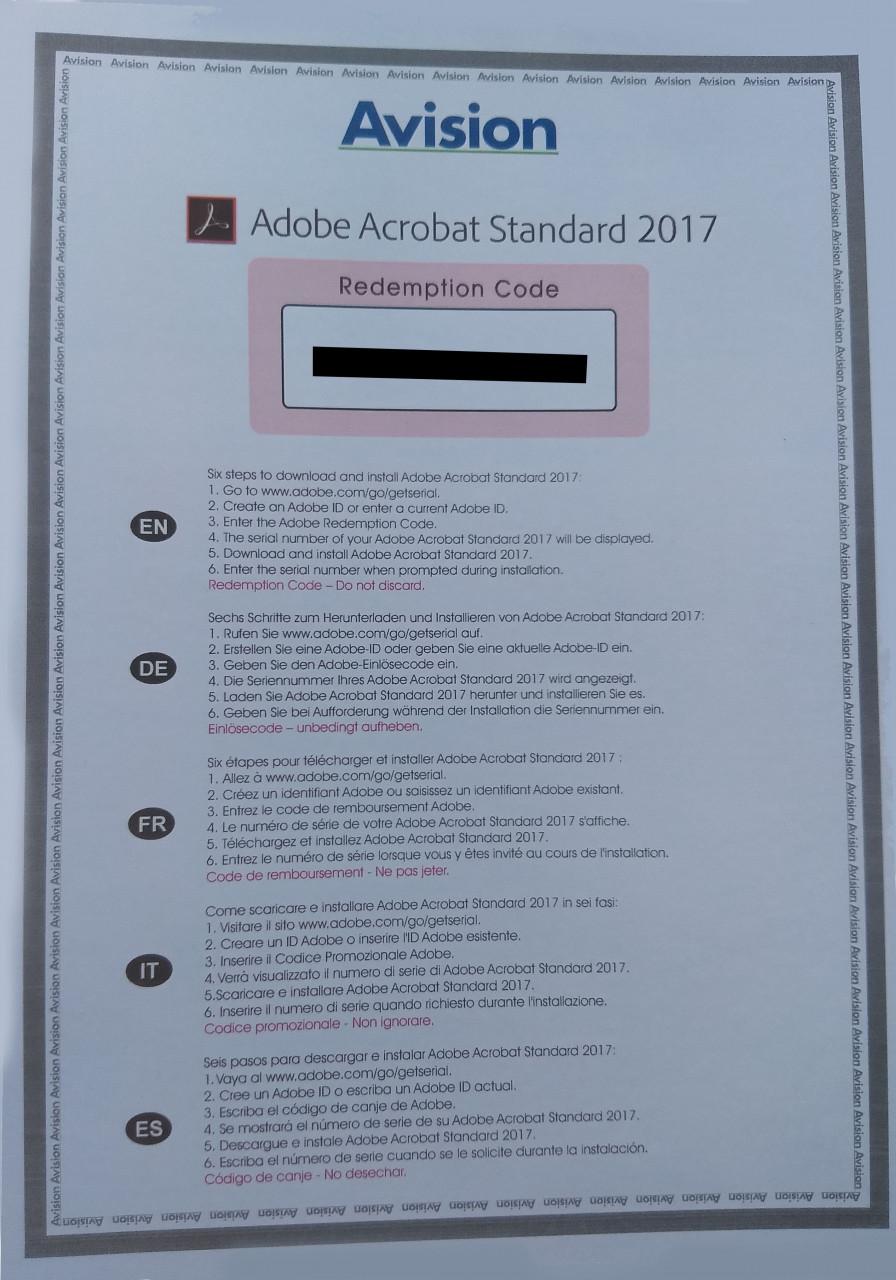 Adobe Systems Adobe Acrobat Standard 2017 Vollversion PKC Win