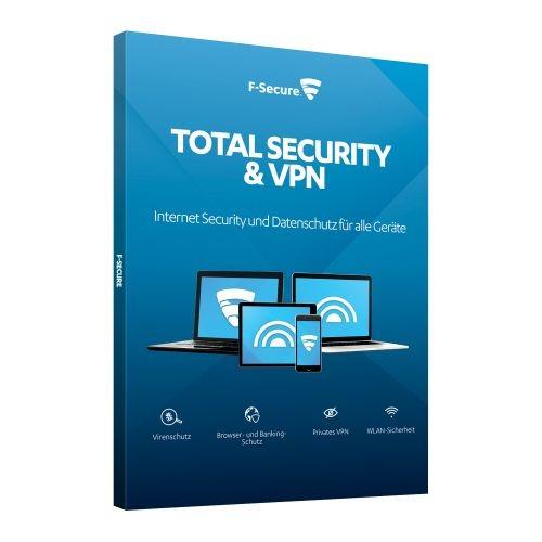 F-Secure Total Security inkl. VPN - 3 Geräte - 1 Jahr, Download (2021)