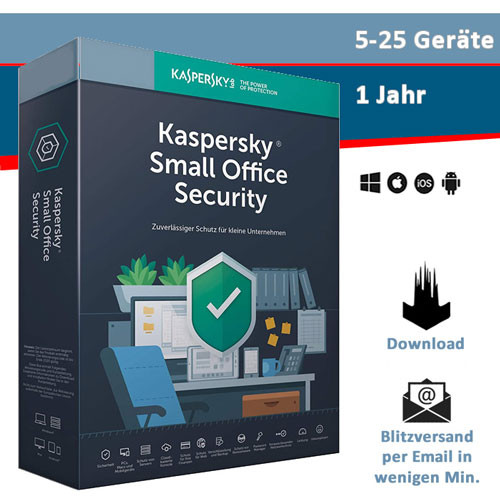 Kaspersky Small Office Security Vers. 8 (5-25 Geräte), Download (2021)