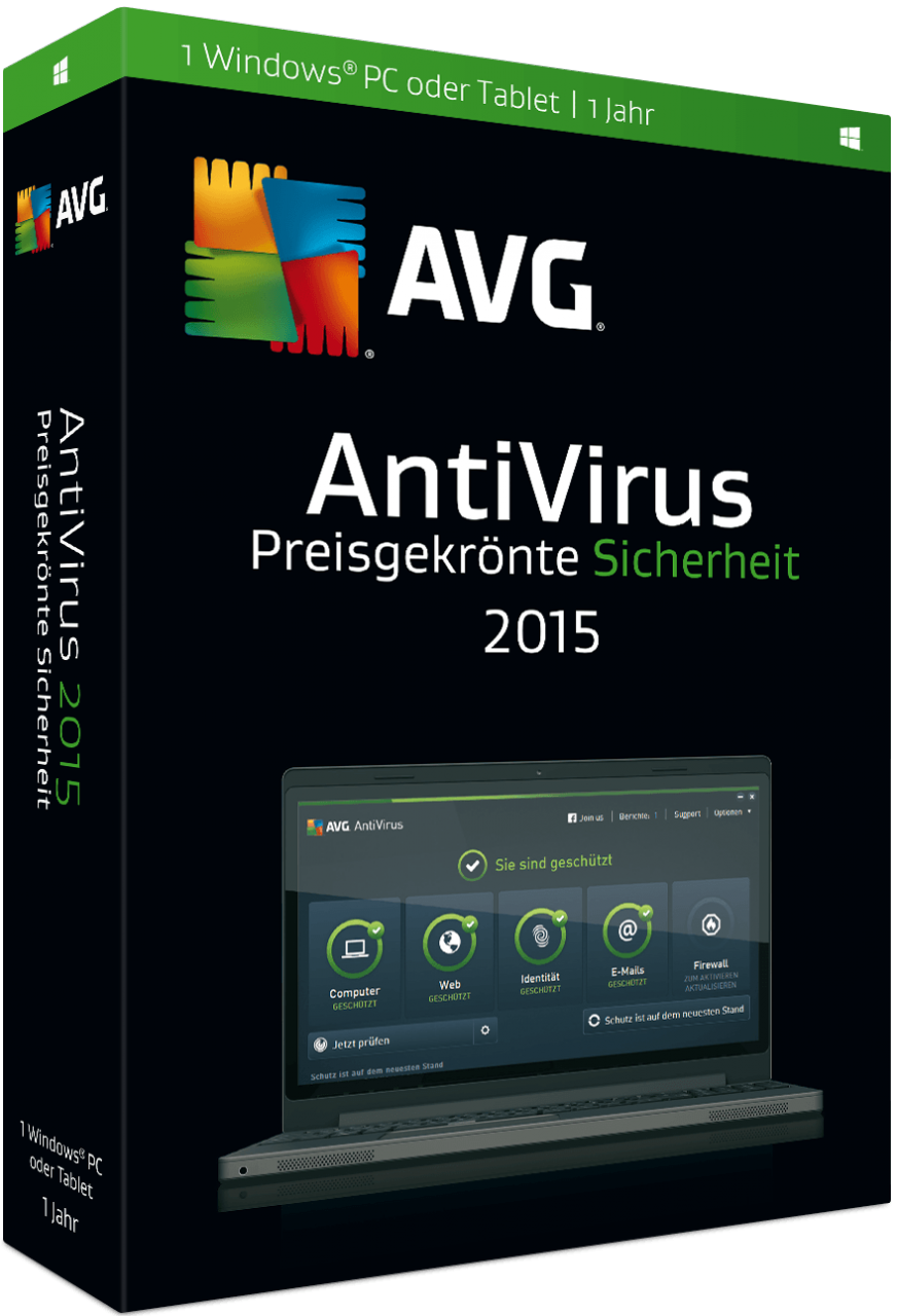 AVG AntiVirus 2016 - 1 PC - 1 Jahr