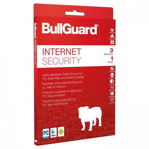 BullGuard Internet Security 2018 Multidevice, 3 Geräte - 1 Jahr, Deutsch, Download, Win/Mac/Android