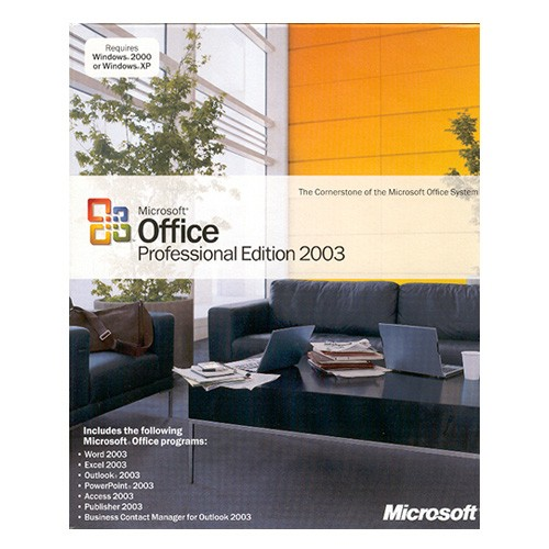 Microsoft Office 2003 Professional Edition, OEM mit CD