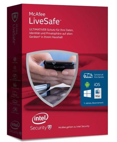 McAfee LiveSafe 2016 Unlimited, 1 User - beliebig viele Geräte, ESD