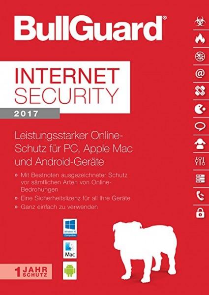 BullGuard Internet Security 2017 Multiplatform, 1 Gerät - 1 Jahr, Deutsch, ESD, Download
